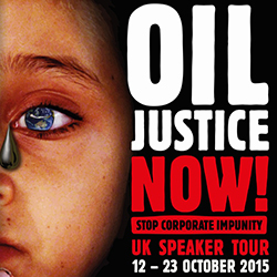 Oil Justice Speaking Tour